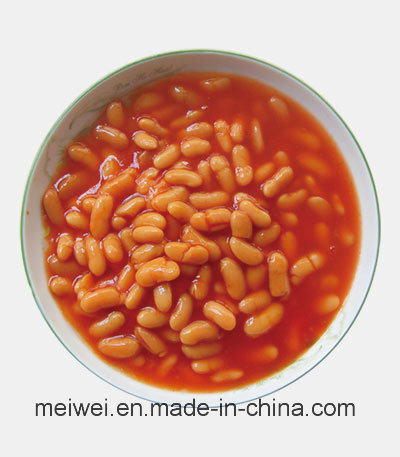 High Quality 400g Canned White Kidney Beans in Tomato Sauce