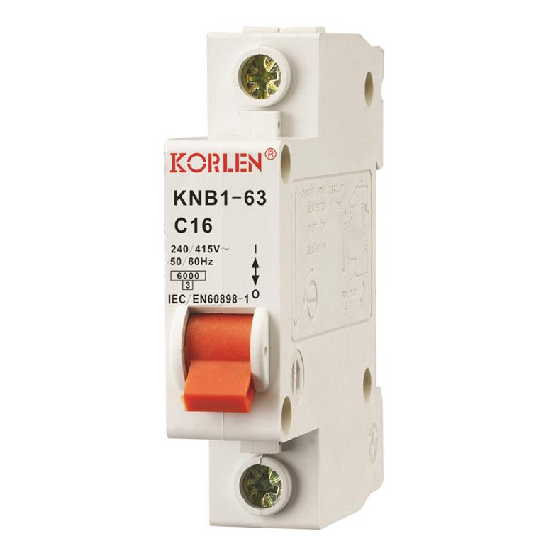 High Breaking Capacity Mini Circuit Breaker Knb1-63