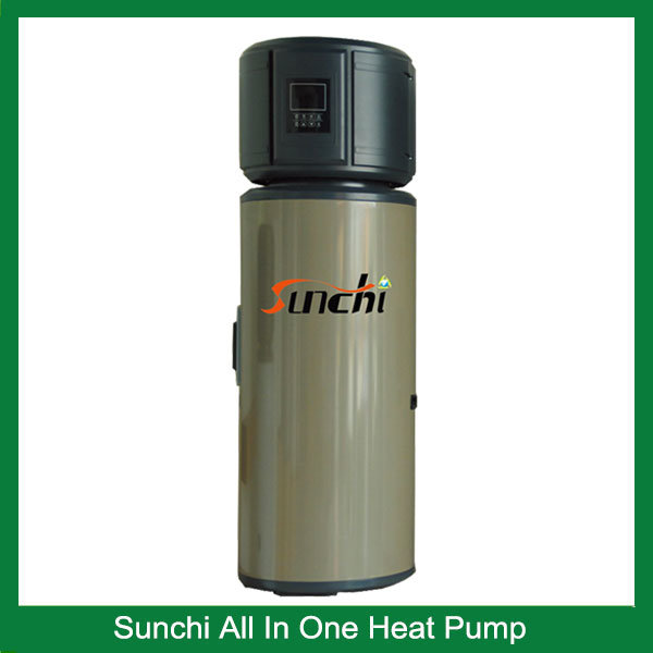 Save 70% Power 2.5kw 150L, 3.5kw 260L, 220V /50Hz Produce 60c Sanitary Hot Water Heat Pump All in One