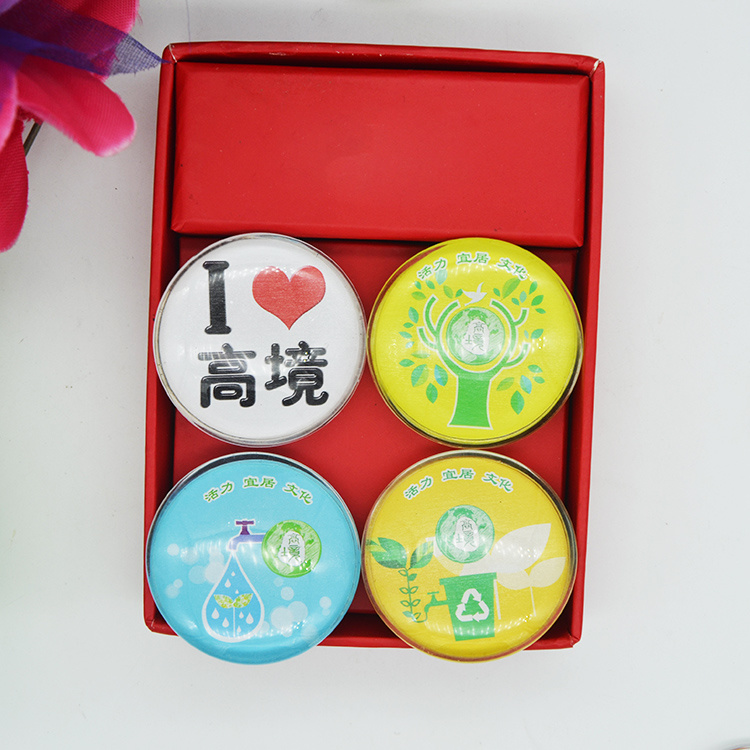China Foshan Factory Direct Tourist Souvenirs Cities Glass Fridge Magnet