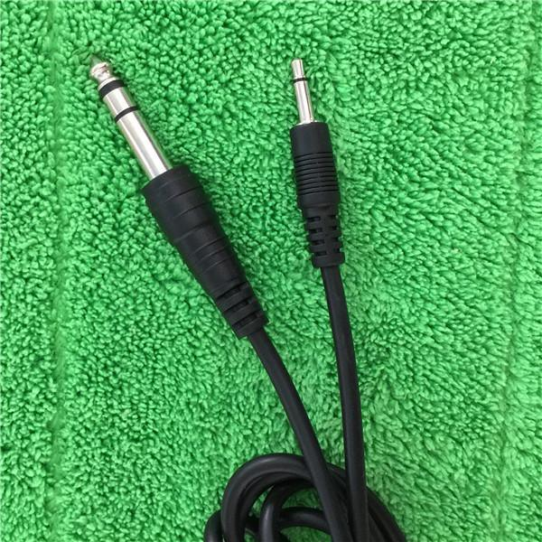 3.5mm Mono Cable to 6.35mm Stereo Audio Cable to Connector