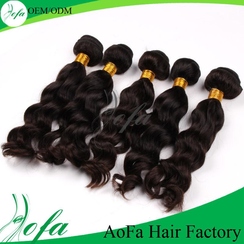 Wholesale Top Grade Natural Virgin Remy Hair Human Hair Weft