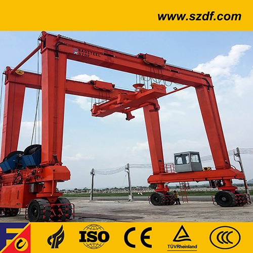 Rtg Crane / Portable Rubber Tyre Container Gantry Crane
