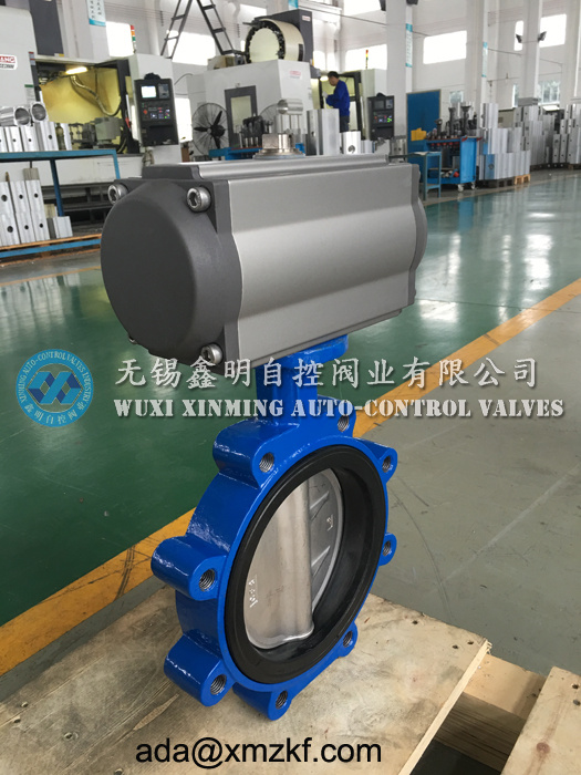 Lug Type Butterfly Valve with Air Actuator, Pneumatic Lug Butterfly Valve