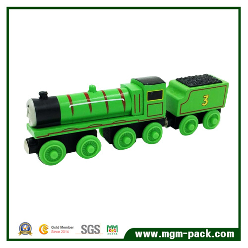 2016 New Product Lovely Green Promotional Wooden Train