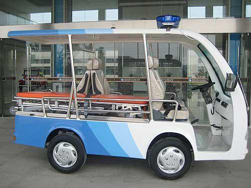 Good Price CE Approved 4-Seats Electric Ambulance with Big Cargo