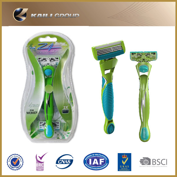 4 Blades System Razor with Cartridge