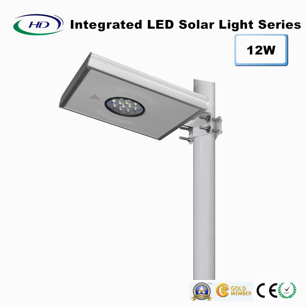 12W PIR Sensor Integrated LED Solar Garden Light