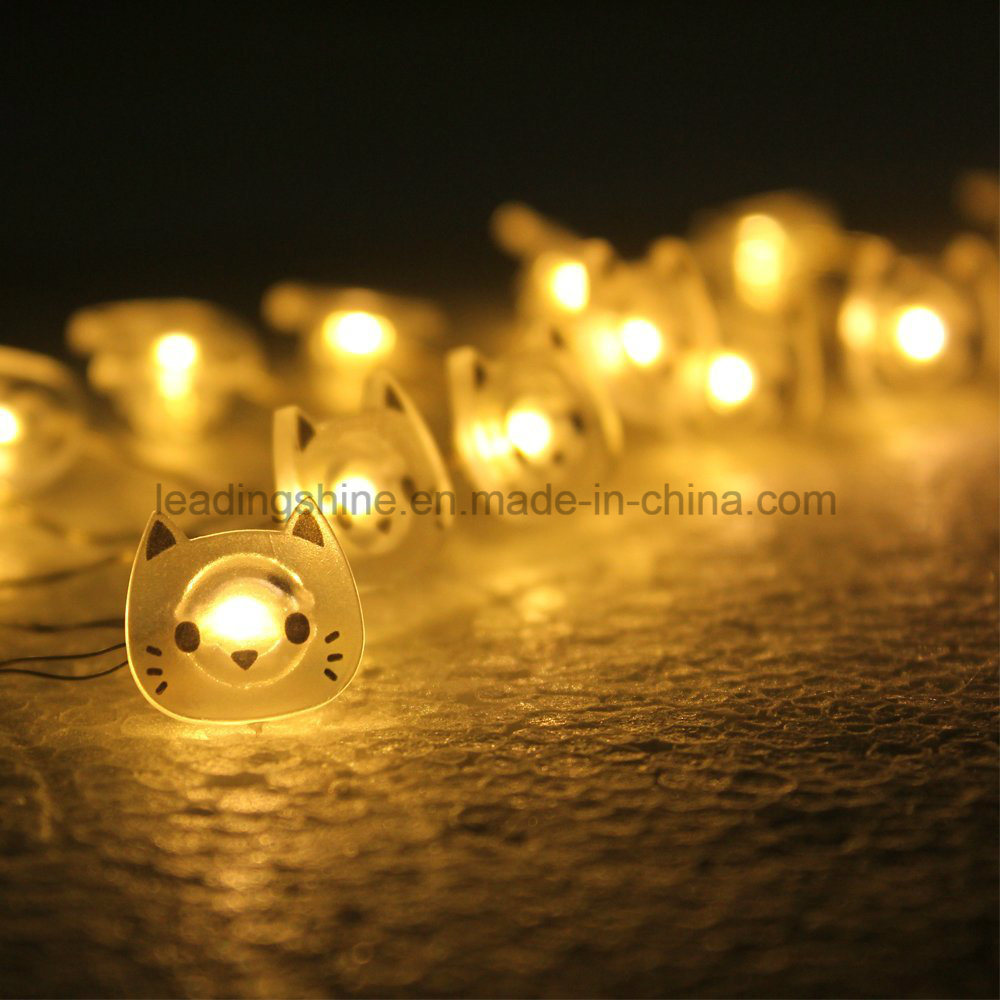Lovely Cat LED Copper Fairy String Wire Battery Operated Tiny Warm White Twinkle Lights