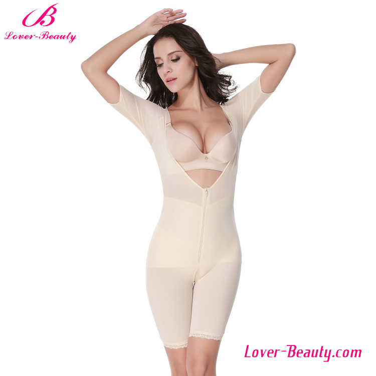 Powerful Modern Nude Deep V-Neck Zipper Body Shapers for Women