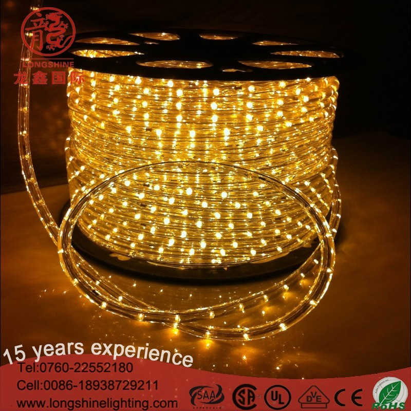 Indoor and Outdoor High Quality LED Round Two Wire Rope Light for Decoration Lighting