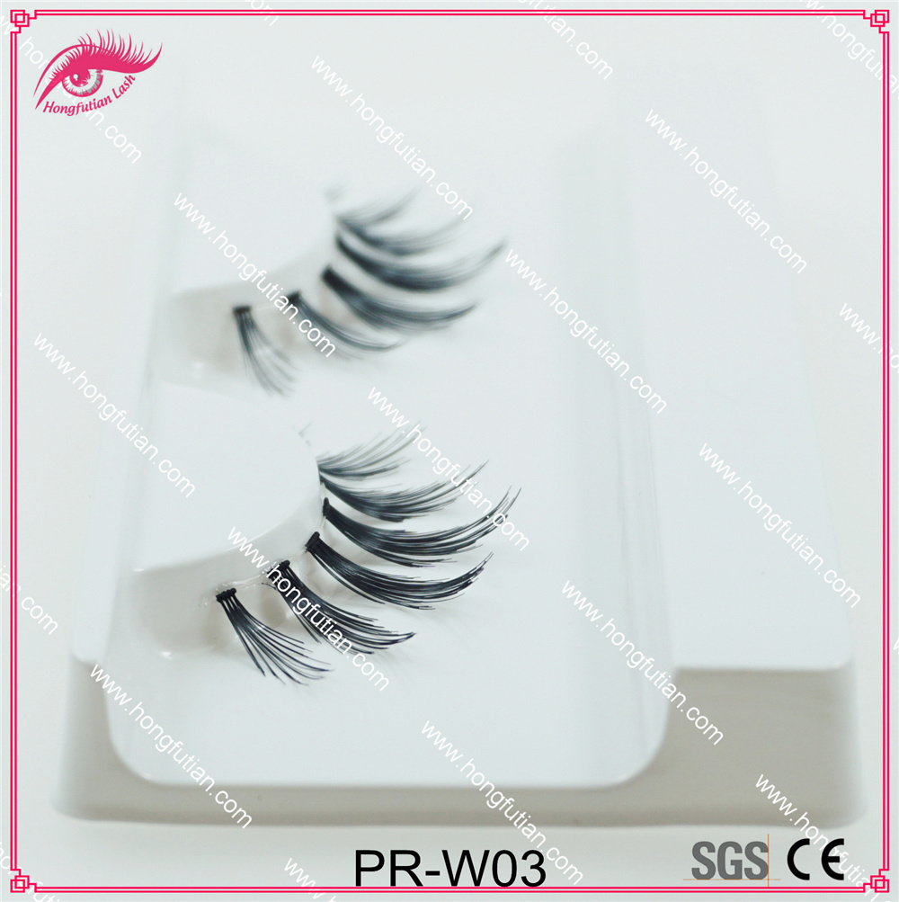 High Quality Natural False Eyelash Human Hair Eyelashes