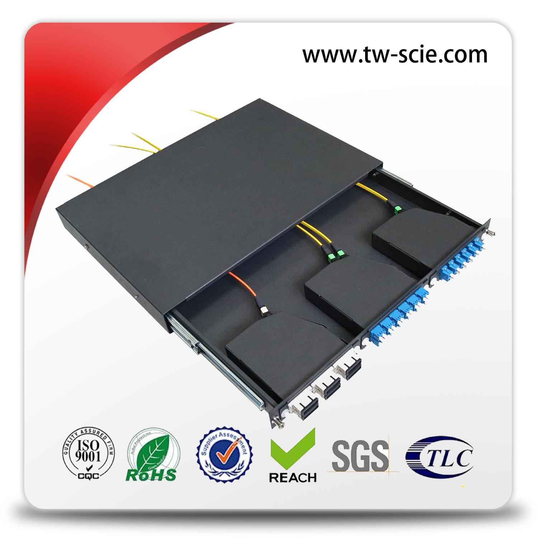 1.2mm Simplex / Duplex 1u MPO Patch Panel for Sc LC MPO Cassette