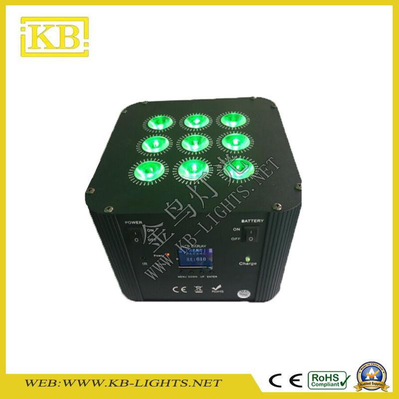 9*12W RGBWA+UV 6in1 Chargable WiFi Flat PAR Light