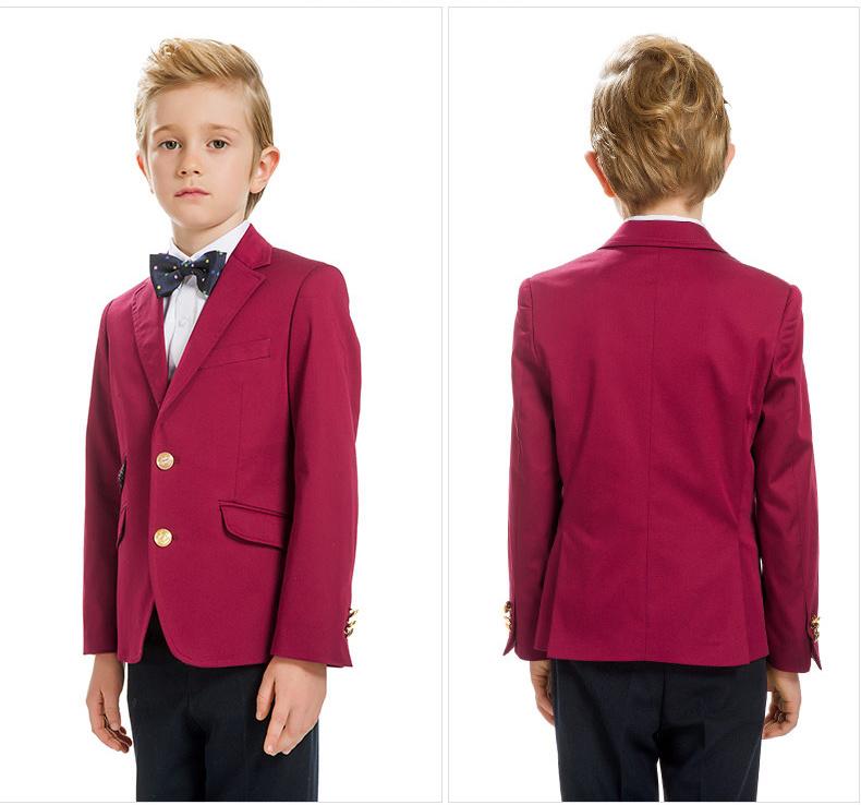 Boys Red Blazer Schoolboys Jacket