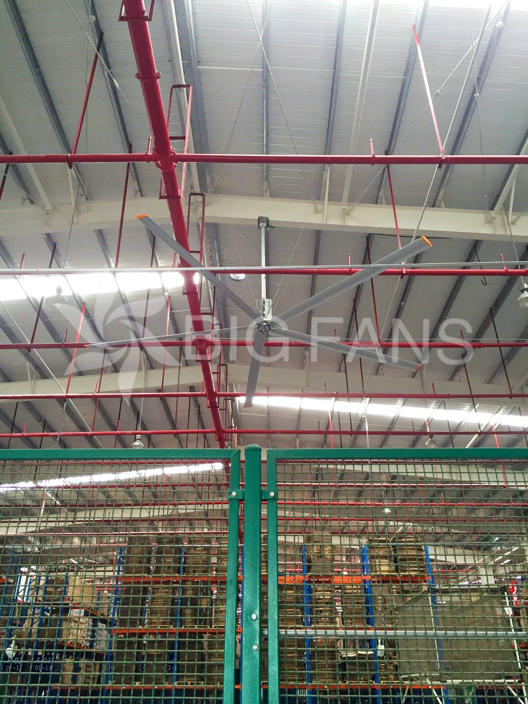 Large Ceiling Fan Hvls Automatic Industrial Giant Ceiling Fan / Fan of Ceiling/7.4m (24.3FT)