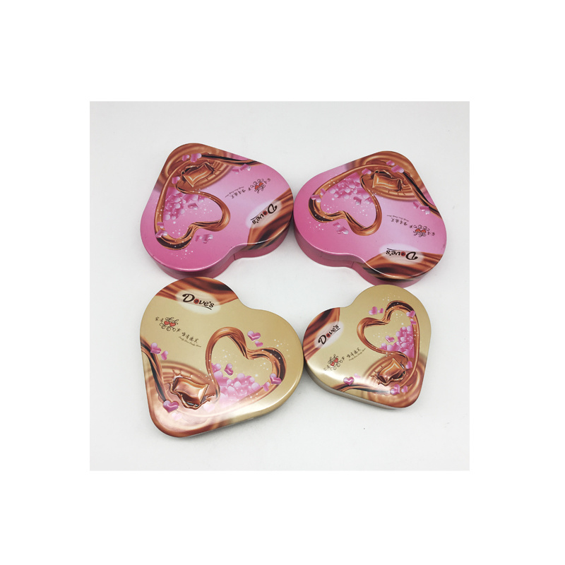 Factory Directly Heart Shape Chocolate Box Tin Material