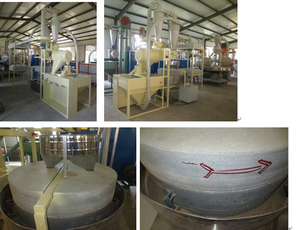 Corn Rice Automatical Electrical Stone Flour Mill for Sale High Quality Low Price Natural Persuit Wh/Wheat Stone Powder Machine/Flour Mill Machine/Wheat Flour