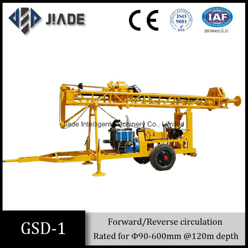 Gsd-1 Mechanical Trailer Mounted Water Well Drilling Equipment