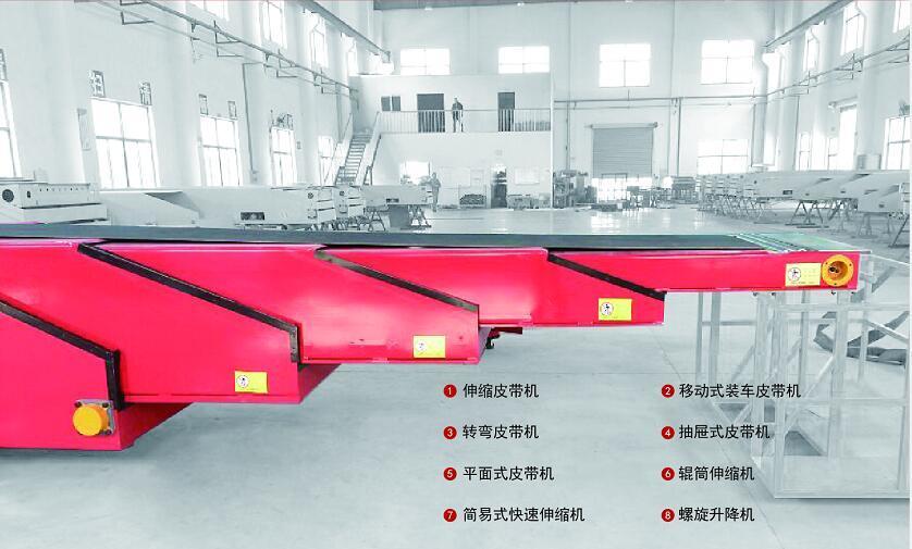 Telescopic Boom Belt Conveyor