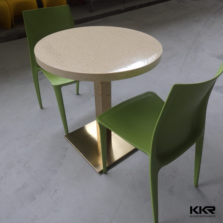 Kkr Modern Hotel Table Customized Solid Surface Dining Table