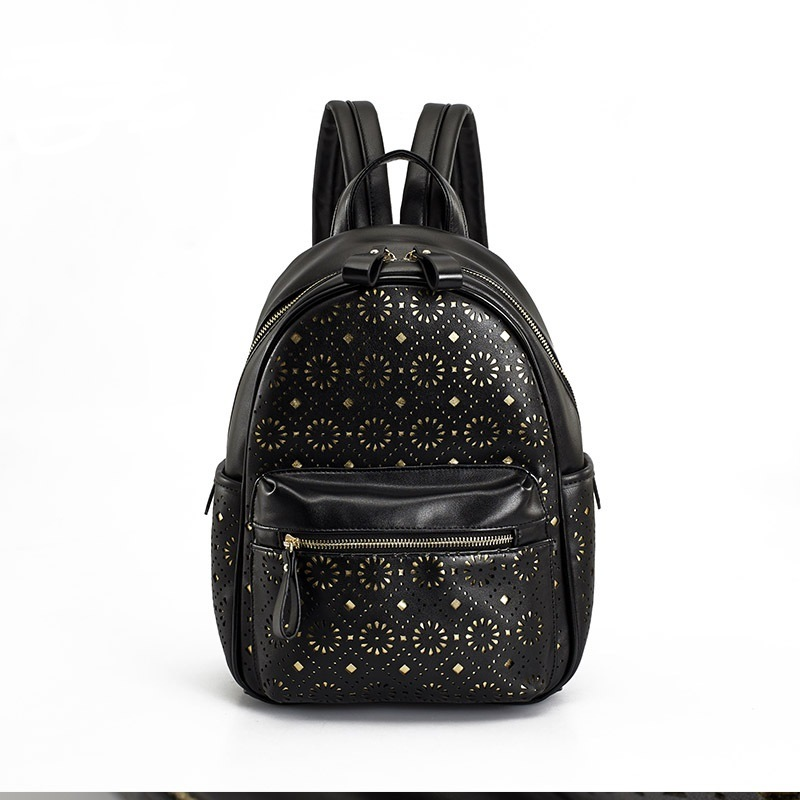 Floral Laser Cut Simple College Backpack and Leisure Rucksacks