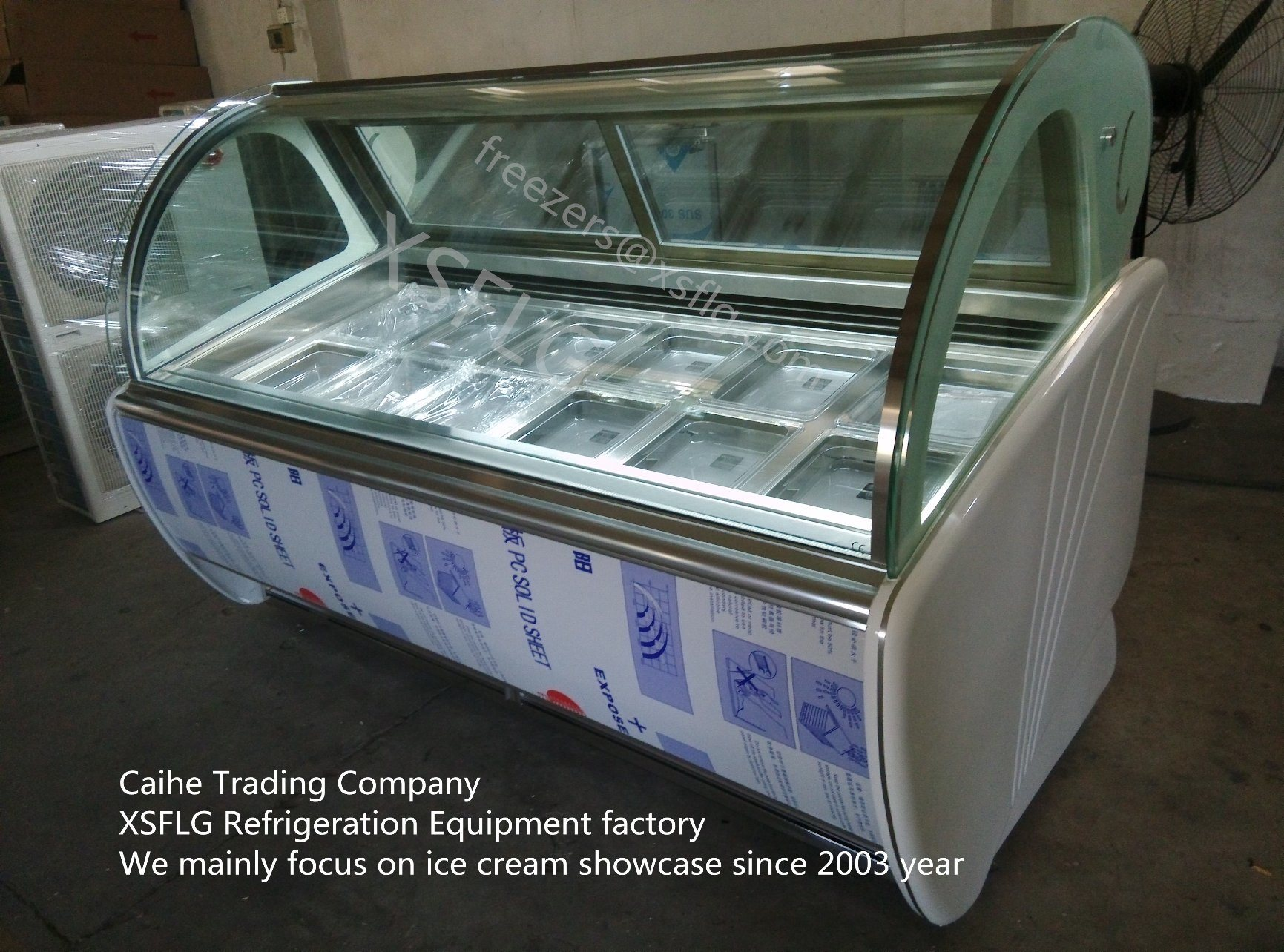 12 Flavors Italian Gelato Display Case