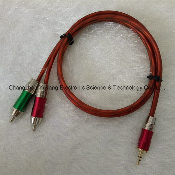 Hot 3.5 Stereo Plug to 2r Metal /AV Cable