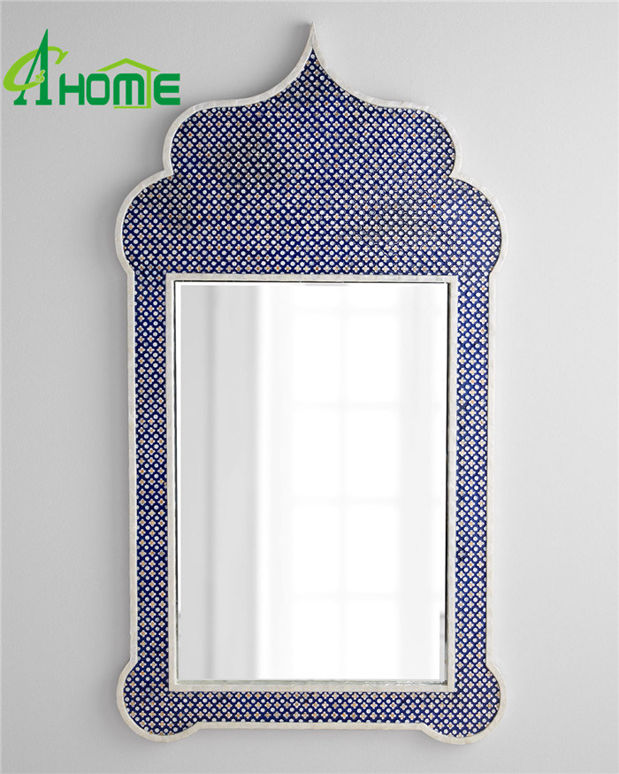 Blue Colour Unique Creative Hanging Wall Mirror for Home Decorative