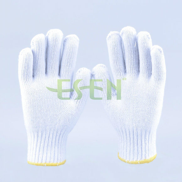 2017 Good Quality 900g Natural White 10 Gauge Knitting Cotton Working Gloves