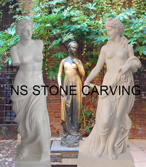 Western Style Natural Stone Life-Size Hand-Carving Venus Marble Statue