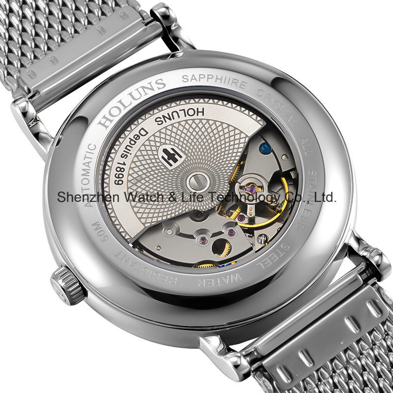 Stainless Steel Mesh Band Automatic Swiss Watch