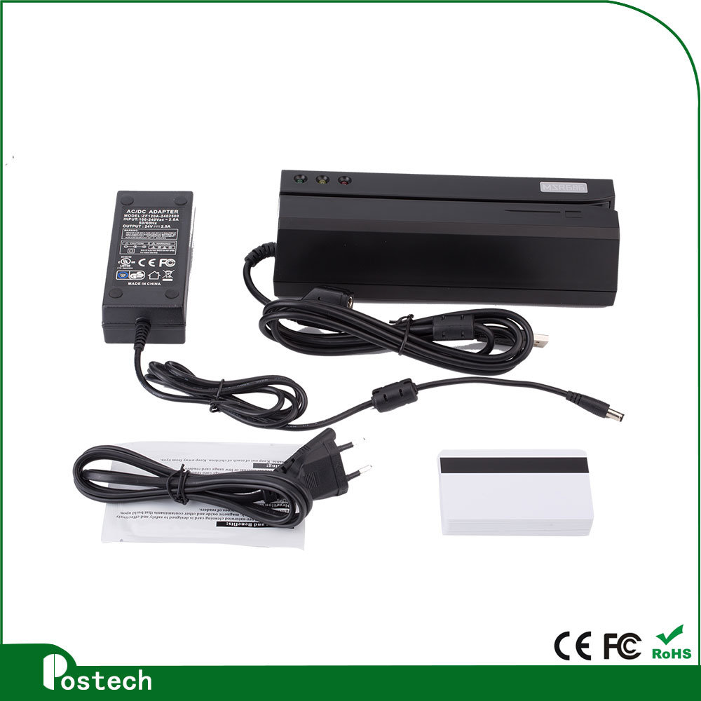 Msr606 Magnetic Card Reader Writer Encoder Comp Msr206 for Lo&Hi Co Track 1, 2 & 3