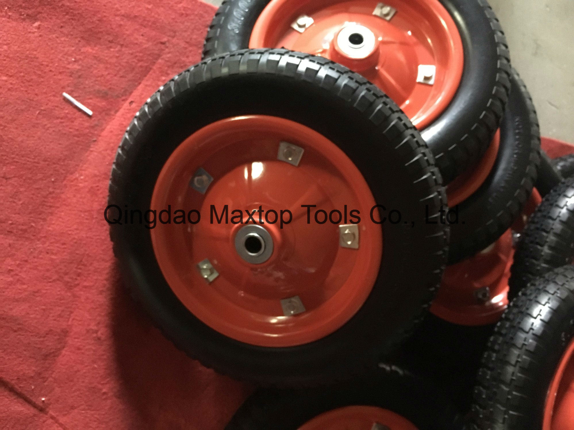 145/70-6 Flat Free PU Foam Wheel