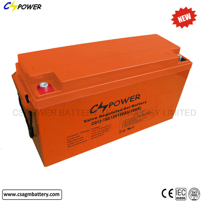 12V 150ah SMF Deep Cycle Gel Batteries for Solar Panel