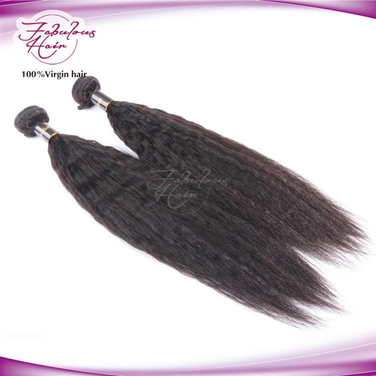 Christmas Human Hair Black Women Yaki Straight Remy Hair