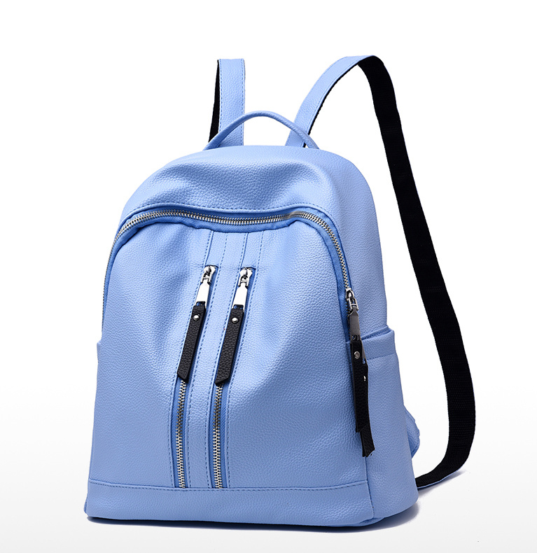 Fashion Style Simple Travel Bag School Bag PU Backpack