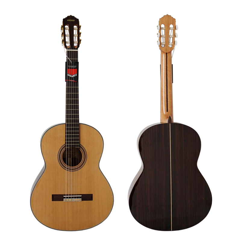 Wholesale Solid Cedar Top Handmade Spanish Classic Guitar for Sale