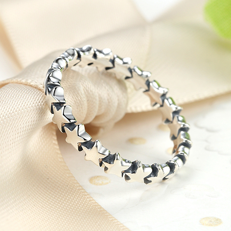 Fashion Little Star 925 Sterling Silver Ring