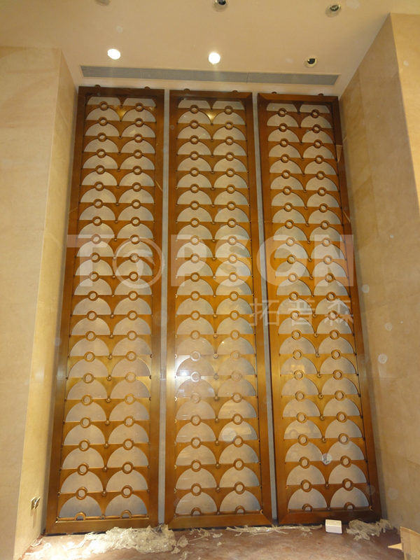 Decorative Stainless Steel Metal Room Divider Screens Partition