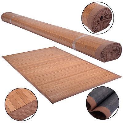 100% Natural Bamboo Wood Area Rug Floor Carpet Indoor Use