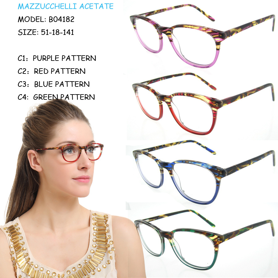 Colorful Available Fashion Cheap Lady Acetate Designer Optical Frames