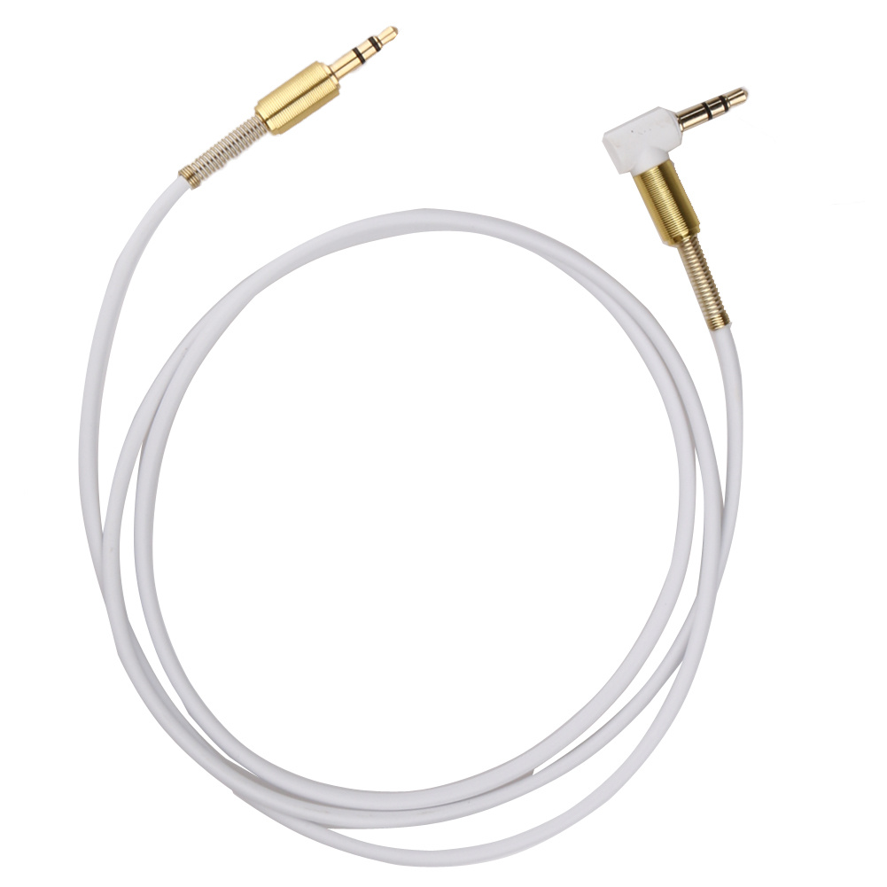 90 Degree 3.5mm Male to Male Car Aux Audio Cable