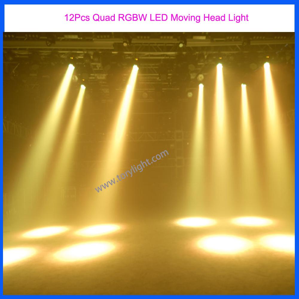 Stage Equipment DJ Light 12PCS Quad LED Moving Head