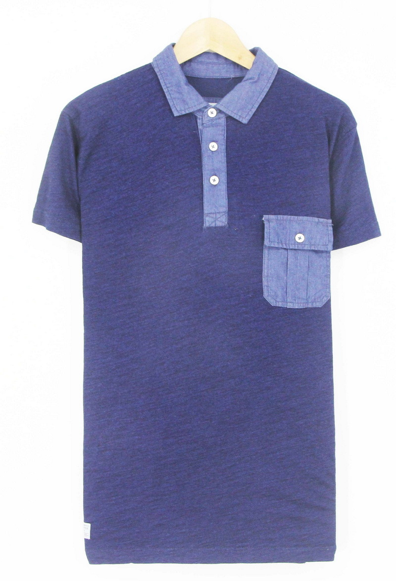 2017 Men Cotton Knitting Denim Washing Short Sleeve Polo Shirts Garments
