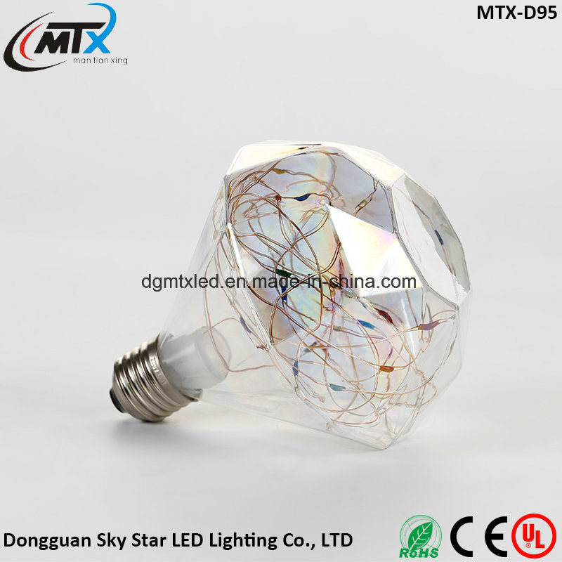 micro LED string lights 3W Edison Bulb LED Strip E27 G80 Creatives Sky Stars Starry String Light Filament Lamp Home Bar Decor Pendant Lighting 110-240V