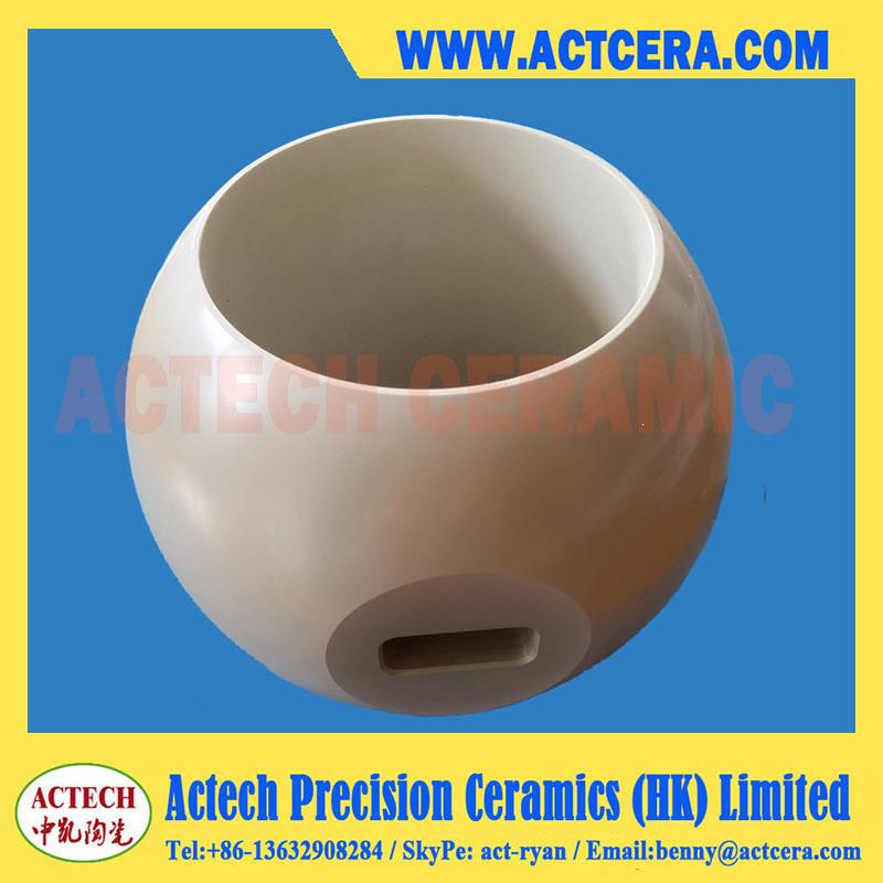 Ceramic Ball Valve Made of 99% Al2O3/Alumina Ceramic