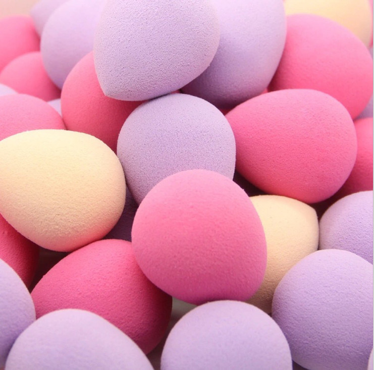 Hydrophilic Makeup Sponge Many Colors Beautiful Recycle Cosmetic Powder Puff OEM