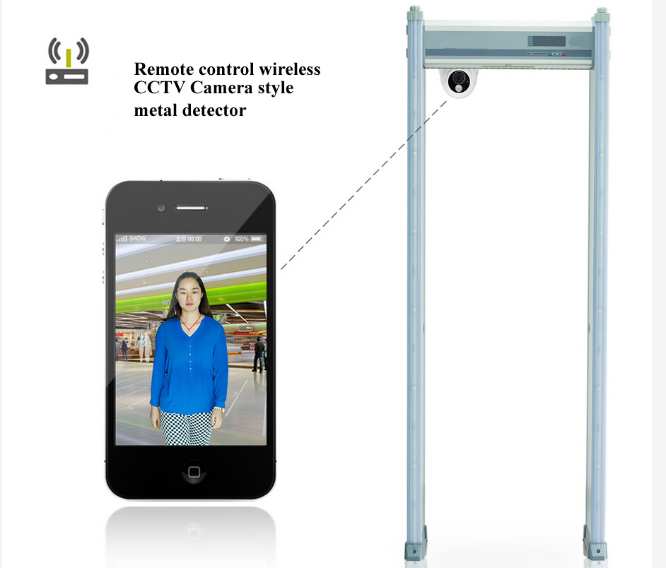 Security Walk Through Metal Detector with CCTV Camera