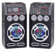 """Dual 6 """" Tower Active Speaker Designed Professionally with Bluetooth"""